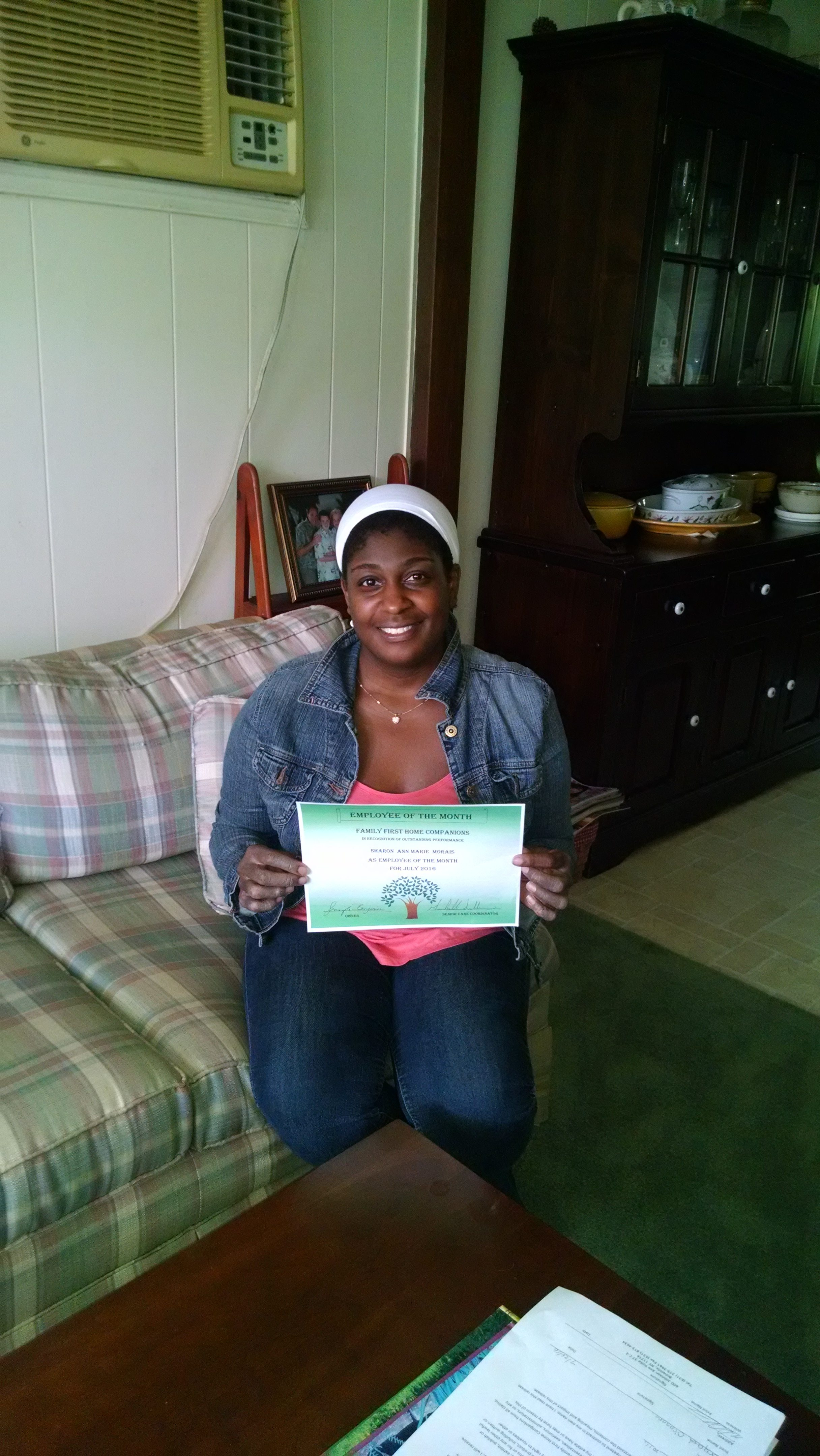 senior care in long island ny: august employee of the month - ann